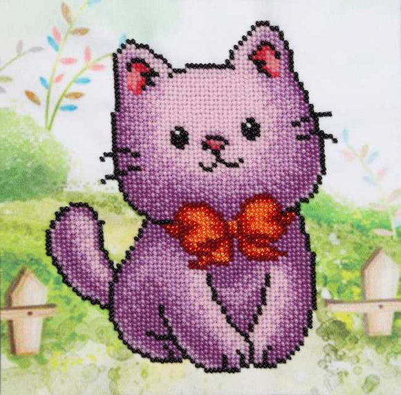Cat Bead Embroidery Kit by VDV
