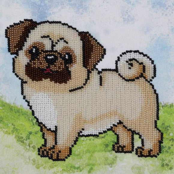 Pug Dog Bead Embroidery Kit by VDV