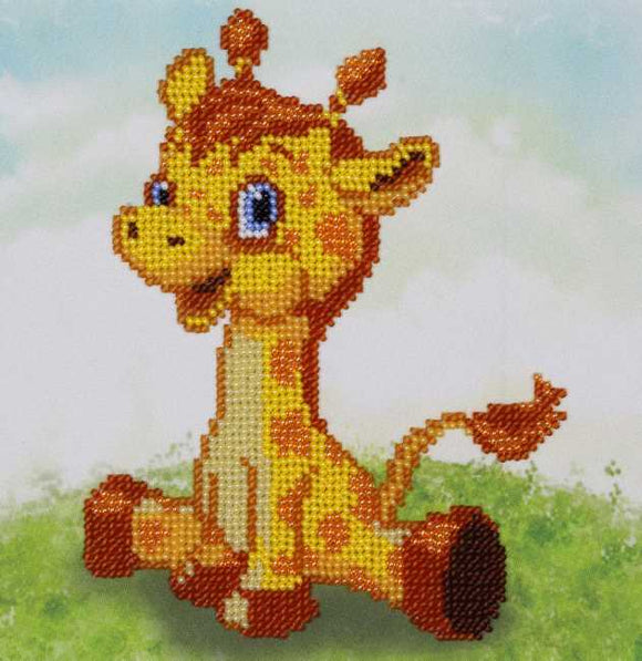Giraffe Bead Embroidery Kit by VDV