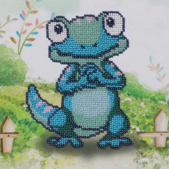 Chameleon Bead Embroidery Kit by VDV