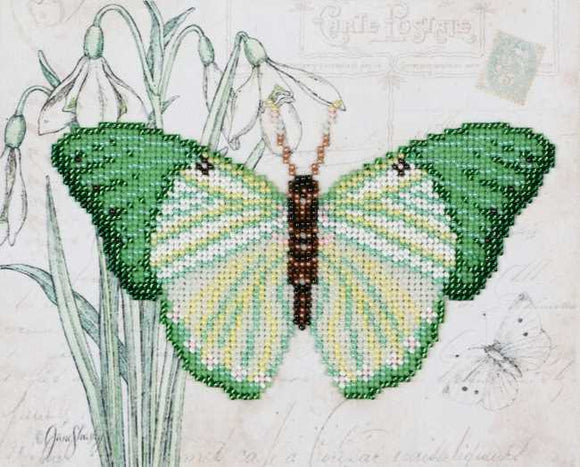Green Butterfly Bead Embroidery Kit by VDV