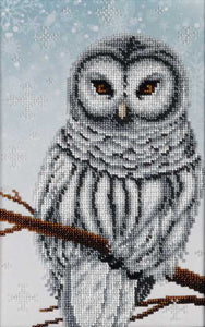 Snow Owl Bead Embroidery Kit by VDV