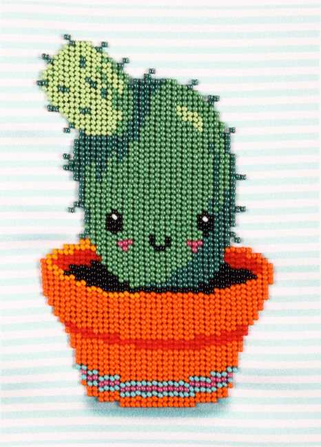 Prickly Friend Bead Embroidery Kit by VDV