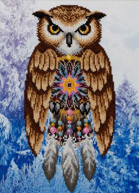 Dream Catcher Owl Bead Embroidery Kit by VDV