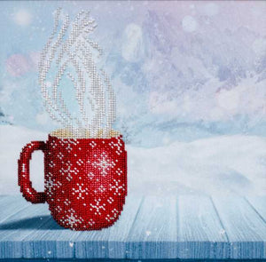 Hot Coffee Bead Embroidery Kit by VDV