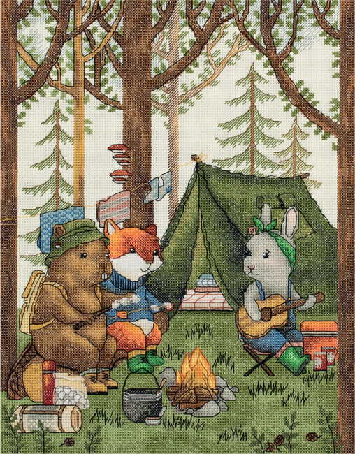 Woodland Camping Cross Stitch Kit by PANNA