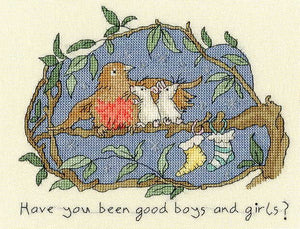Have You Been Good? Cross Stitch Kit By Bothy Threads