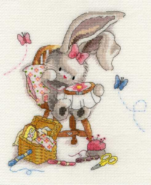 Sewn with Love Bebunni Cross Stitch Kit By Bothy Threads