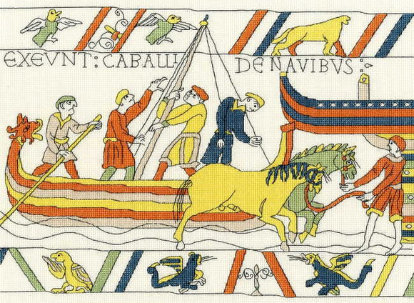 Bayeux Tapestry The Normans' Landing Cross Stitch Kit By Bothy Threads
