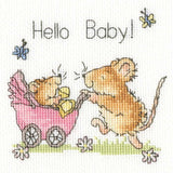 Hello Baby Cross Stitch Card Kit By Bothy Threads