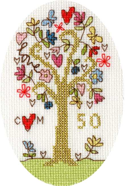 Champagne Congratulations Wedding Birthday Occasion Cross Stitch Card Kit
