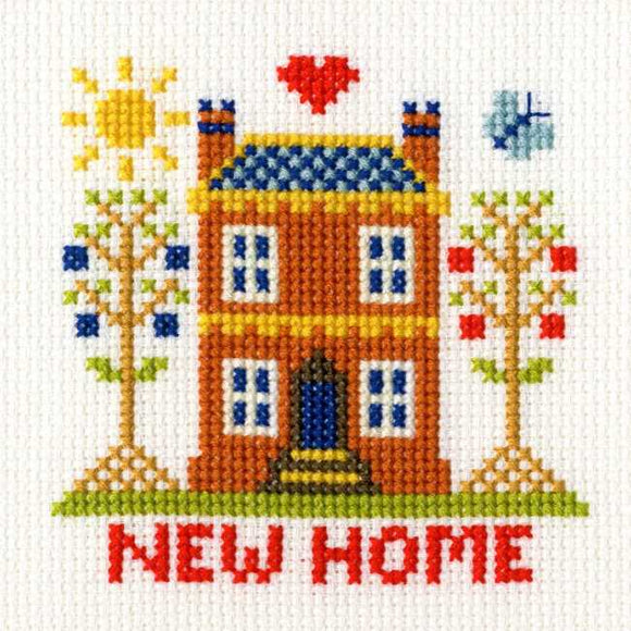 New Home Cross Stitch Card Kit By Bothy Threads