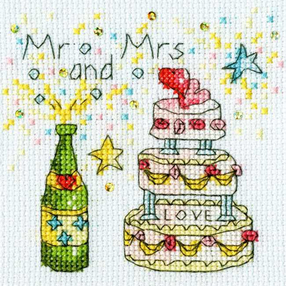 Cheers Cross Stitch Card Kit By Bothy Threads
