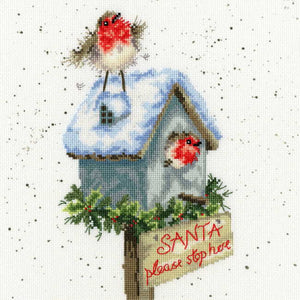 Santa Please Stop Here Cross Stitch Kit By Bothy Threads