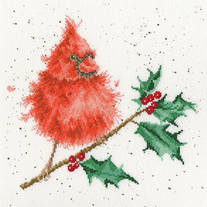 Festive Feathers Cross Stitch Kit By Bothy Threads