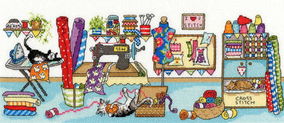 Sewing Fun Cross Stitch Kit By Bothy Threads