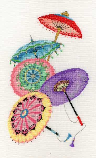 Parasols Cross Stitch Kit By Bothy Threads