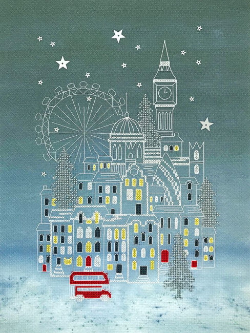 Snowy London Cross Stitch Kit By Bothy Threads