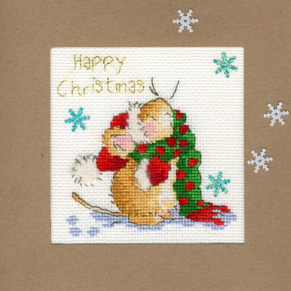 Counting Snowflakes Cross Stitch Christmas Card Kit by Bothy Threads