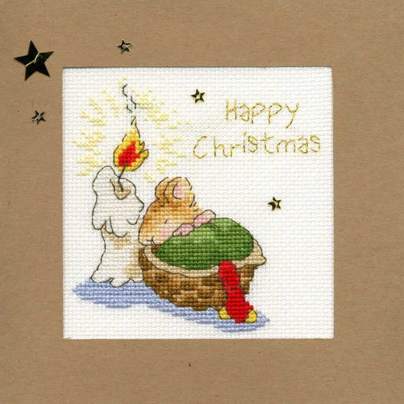 First Christmas Cross Stitch Christmas Card Kit by Bothy Threads