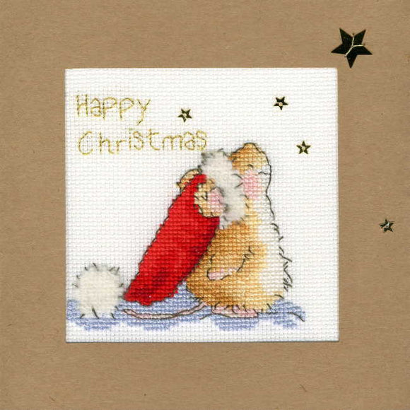 Stargazing Cross Stitch Christmas Card Kit by Bothy Threads