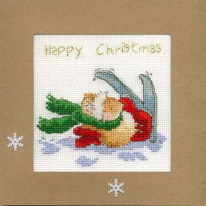 Apres Ski Cross Stitch Christmas Card Kit by Bothy Threads