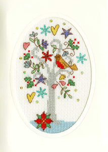 Winter Wishes Cross Stitch Christmas Card Kit by Bothy Threads