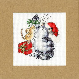 Under the Mistletoe Cross Stitch Christmas Card Kit by Bothy Threads