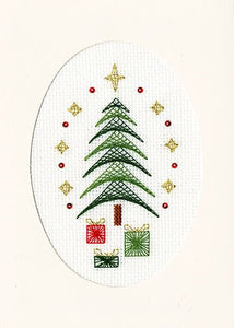 All Wrapped Up Cross Stitch Christmas Card Kit by Bothy Threads