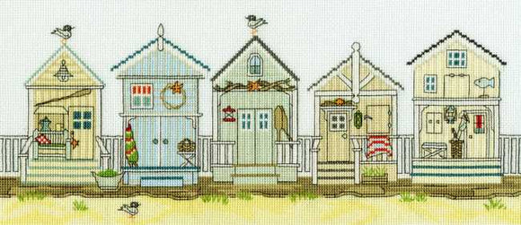 New England Beach Huts Cross Stitch Kit By Bothy Threads