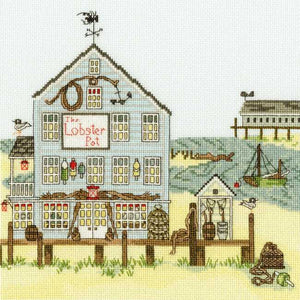 New England The Lobster Pot Cross Stitch Kit By Bothy Threads