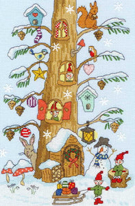Santa's Little Helpers Cross Stitch Kit By Bothy Threads