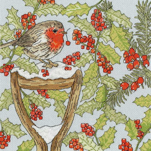 Christmas Garden Cross Stitch Kit By Bothy Threads