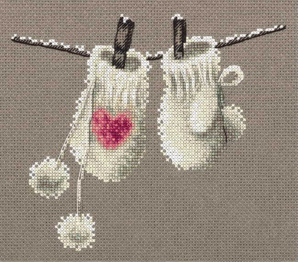 Winter Mittens Cross Stitch Kit by PANNA