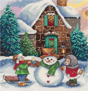 Winter Scene Cross Stitch Kit by PANNA