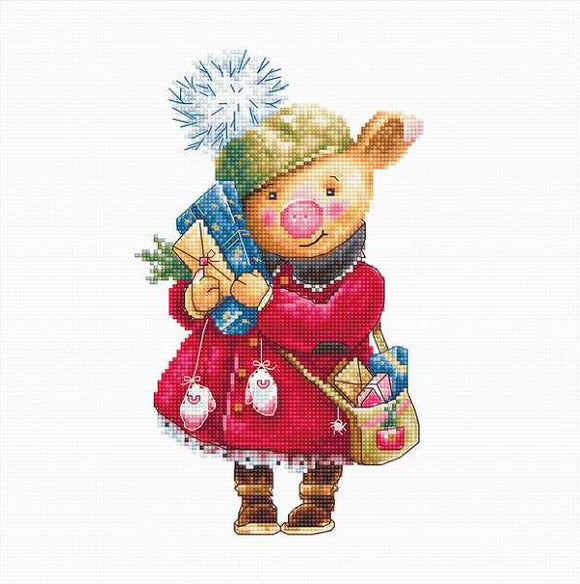 Christmas Pig Cross Stitch Kit by Luca S
