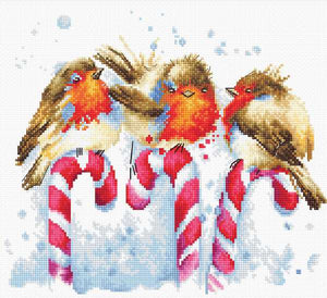 Christmas Birds Cross Stitch Kit by Luca S