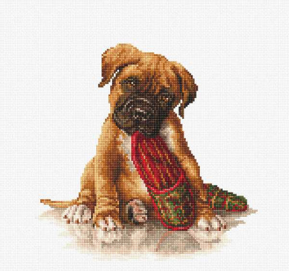 The Boxer Cross Stitch Kit by Luca S