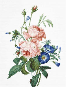 Bouquet with Roses Cross Stitch Kit by Luca S