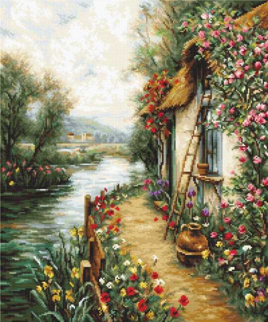 Along the River Cross Stitch Kit by Luca S