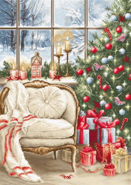 Christmas Interior Design Cross Stitch Kit by Luca S