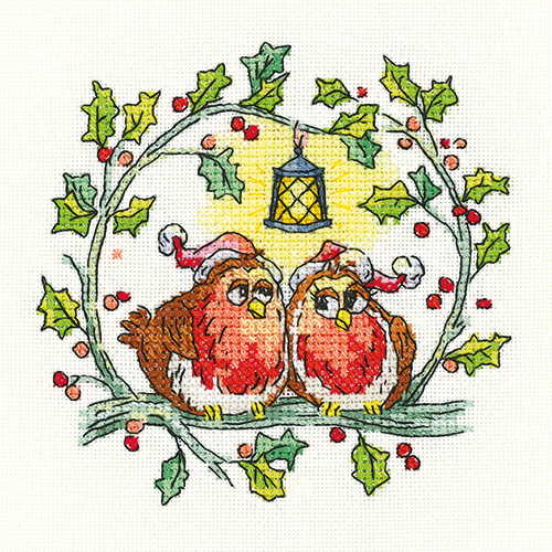 Christmas Robins Cross Stitch Kit by Heritage Crafts