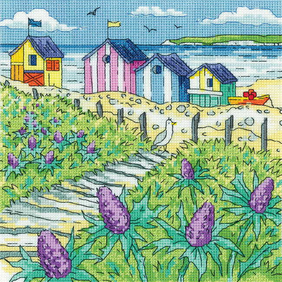 Sea Holly Shore Cross Stitch Kit by Heritage Crafts