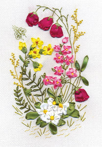 Woodland Fantasy Ribbon Embroidery Kit by PANNA