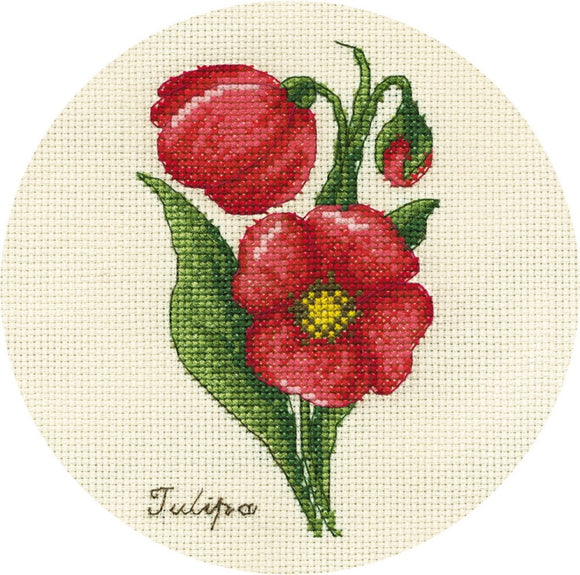 Small Bunch of Tulips Cross Stitch Kit by PANNA