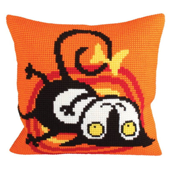 Kitty Printed Cross Stitch Cushion Kit by Collection D'Art