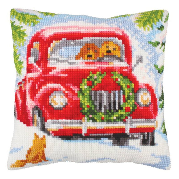 Into the Woods Printed Cross Stitch Cushion Kit by Collection D'Art