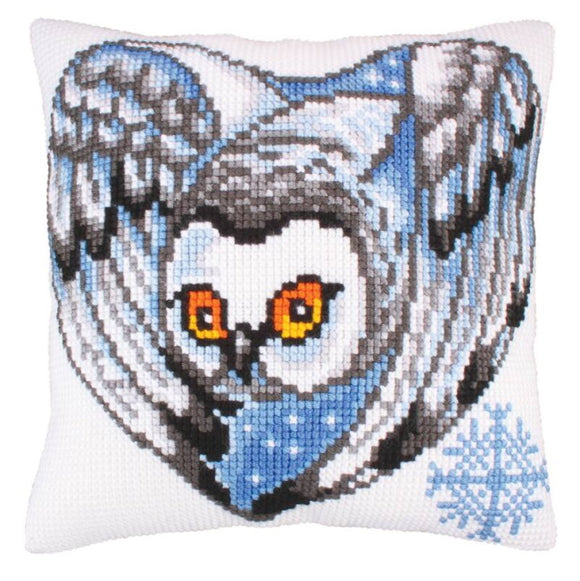 Night Watch Printed Cross Stitch Cushion Kit by Collection D'Art