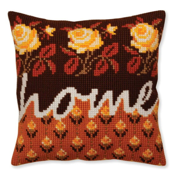 Home Printed Cross Stitch Cushion Kit by Collection D'Art