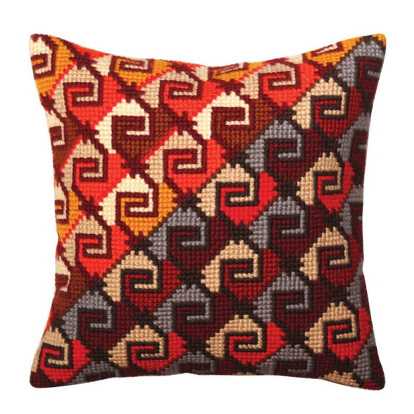 Peruvian Ornament Printed Cross Stitch Cushion Kit by Collection D'Art
